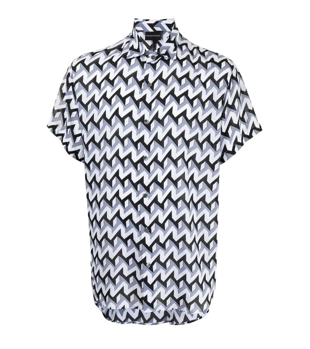 Emporio Armani Camisa Retro Geometric