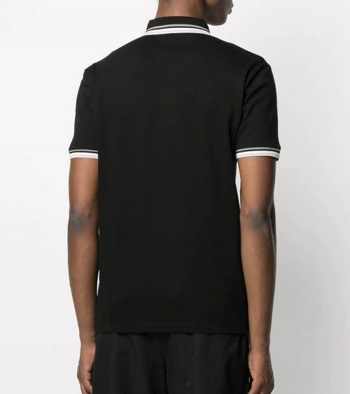 Emporio Armani Polo Negro Cuello Especial espalda