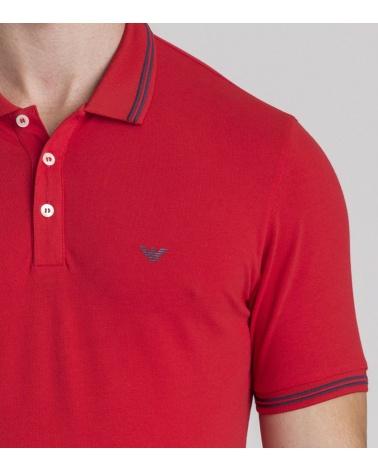 Emporio Armani Polo Rojo Class modelo pecho