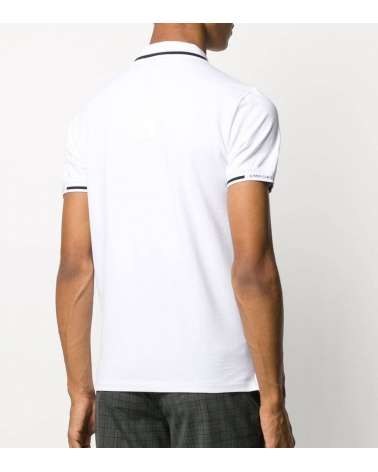 Emporio Armani Polo Blanco Línea Cuello espalda