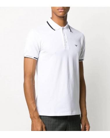 Emporio Armani Polo Blanco Línea Cuello modelo