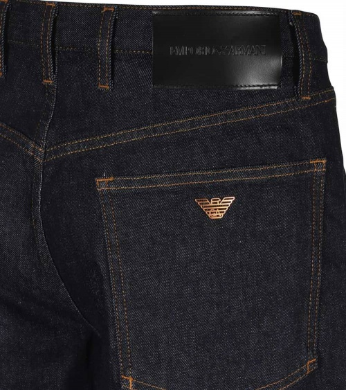 Emporio Armani Bermuda Jeans Oscura etiqueta