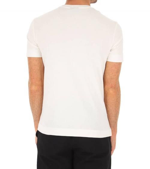 Emporio Armani Camiseta Blanca Líneas Logo espalda