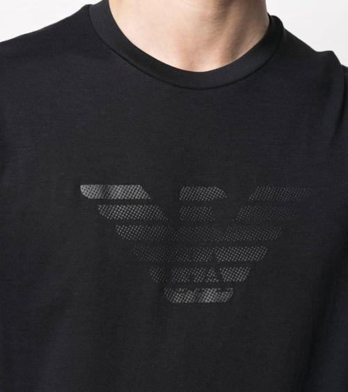 Emporio Armani Camiseta Marino Logo Pecho detalle