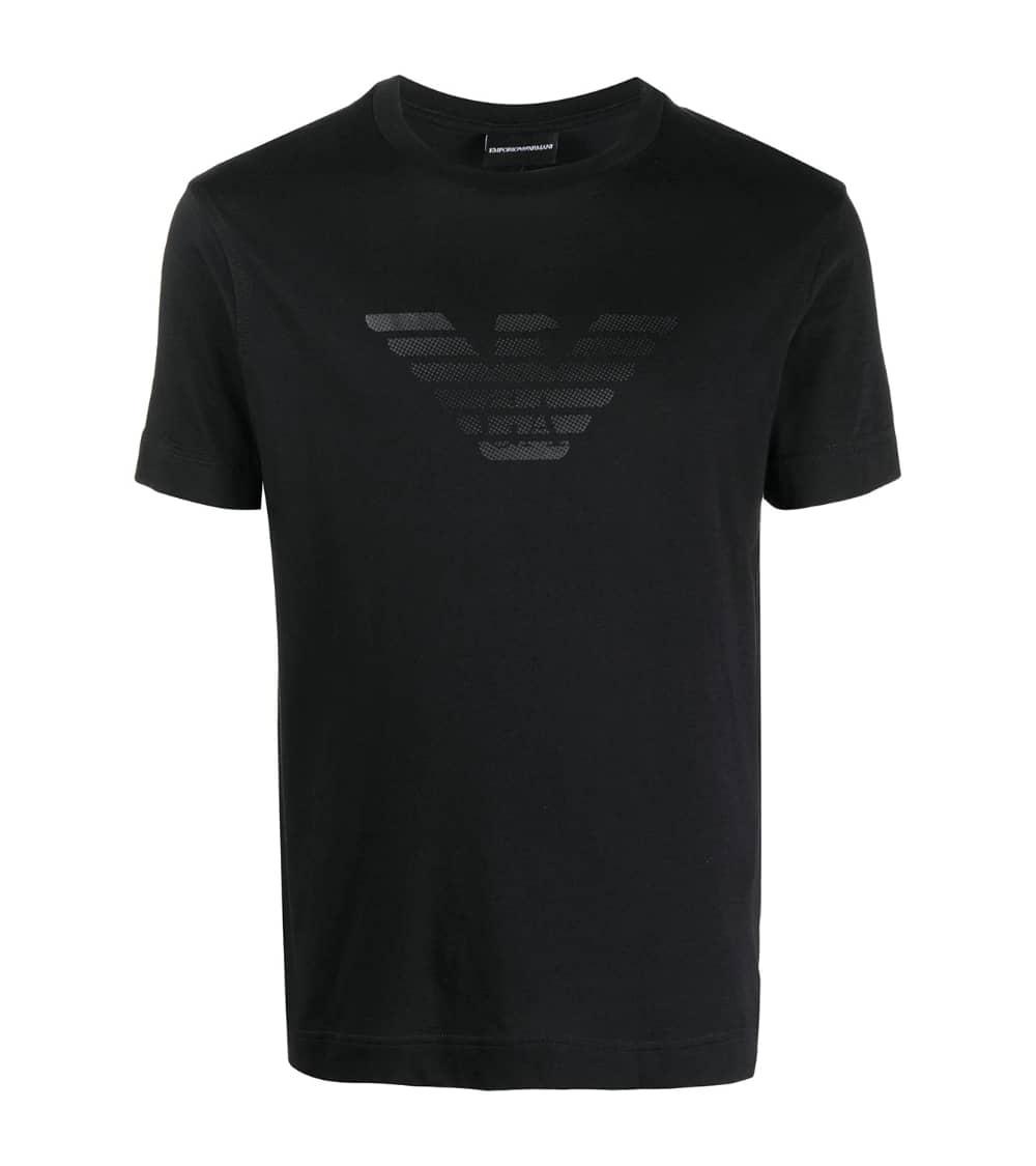 Emporio Armani Camiseta Marino Logo Pecho