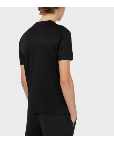 Emporio Armani Camiseta Negra Logo Tono espalda