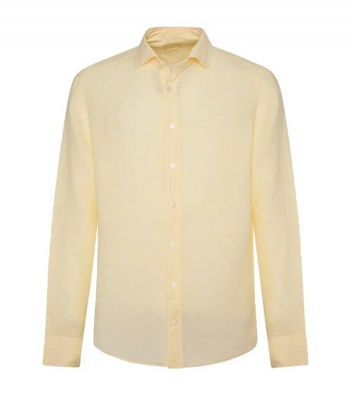 Hackett London Camisa Lino Amarilla
