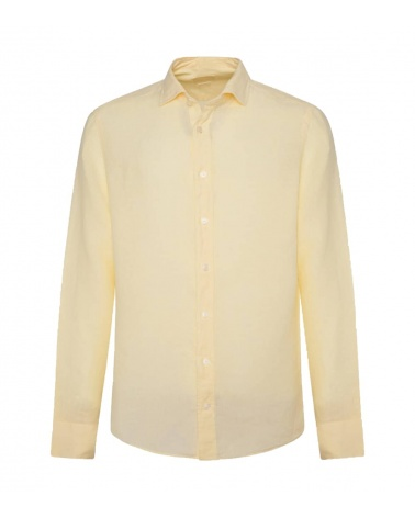 Hackett London Camisa Lino Amarilla