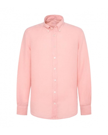Hackett London Camisa Lino Rosa