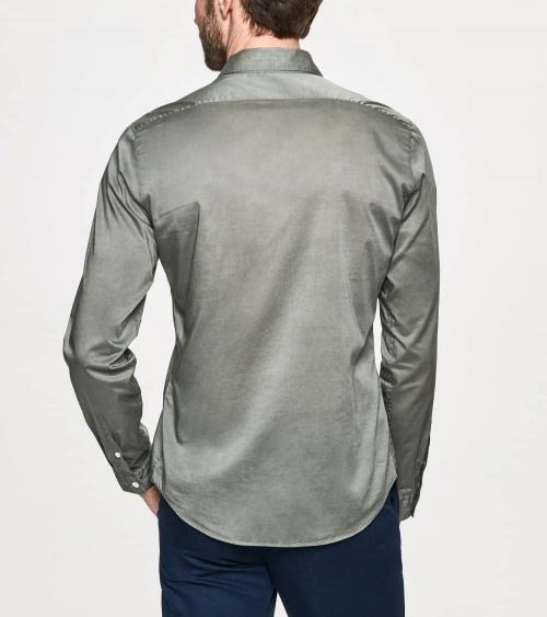 Hackett London Camisa Popelín Verde Lisa espalda