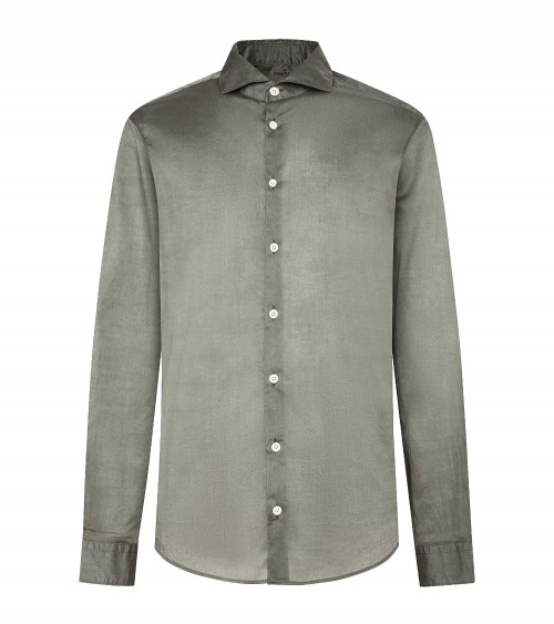 Hackett London Camisa Popelín Verde Lisa