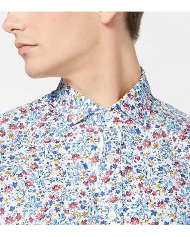 Hackett London Camisa Floral Multicolor detalle