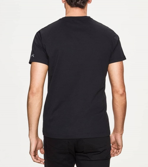 Hackett London Camiseta Negra Panal AMR espalda