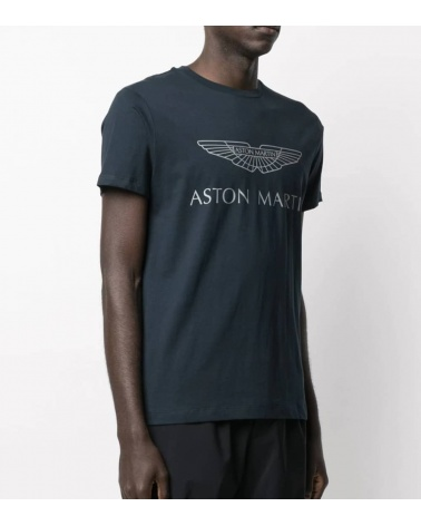 Hackett London Camiseta Marino Logo AMR modelo