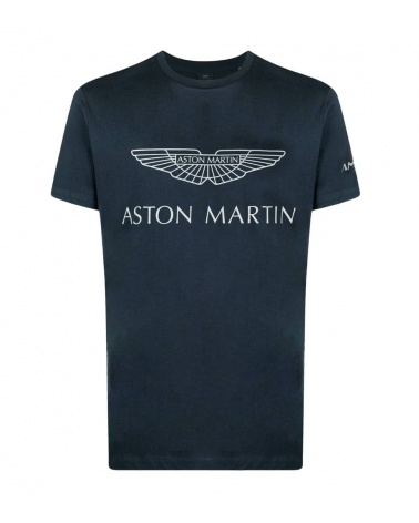 Hackett London Camiseta Marino Logo AMR