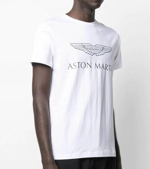 Hackett London Camiseta Blanca Logo AMR modelo
