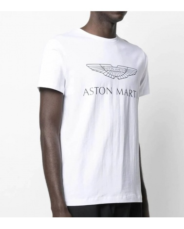Hackett London Camiseta Blanca Logo AMR modelo