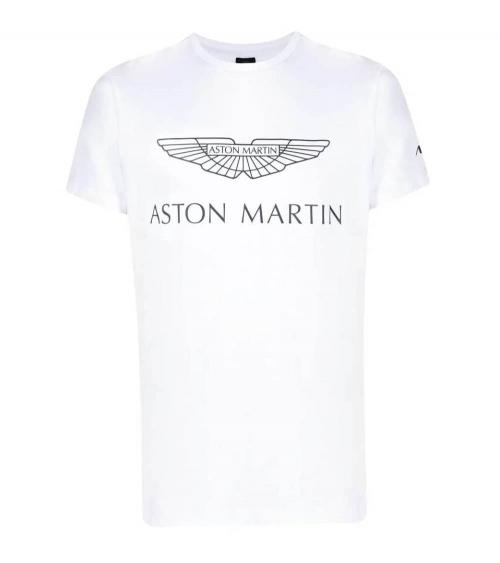 Hackett London Camiseta Blanca Logo AMR