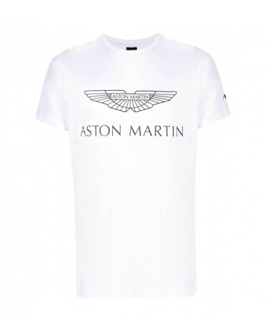 Hackett London Camiseta Blanca Logo AMR