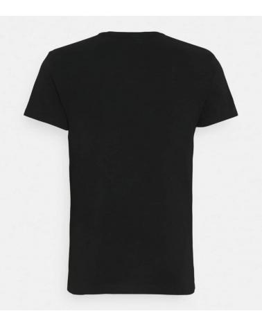 Hackett London Camiseta Negra Logo Frontal espalda