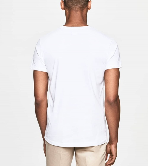 Hackett London Camiseta Blanca Logo Frontal espalda