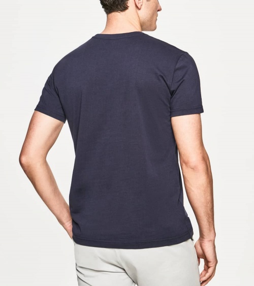 Hackett London Camiseta Marino Rectángulo espalda