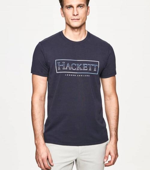 Hackett London Camiseta Marino Rectángulo modelo