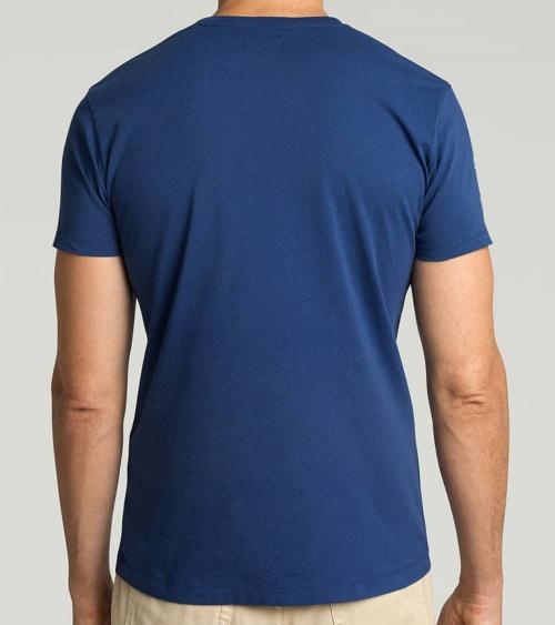 Hackett London Camiseta Azul Logo Frontal espalda