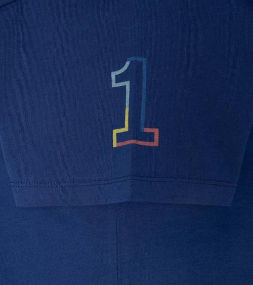 Hackett London Camiseta Azul Logo Frontal manga
