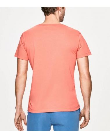 Hackett London Camiseta Coral Rectángulo espalda
