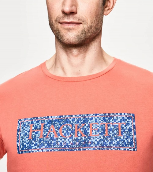 Hackett London Camiseta Coral Rectángulo detalle