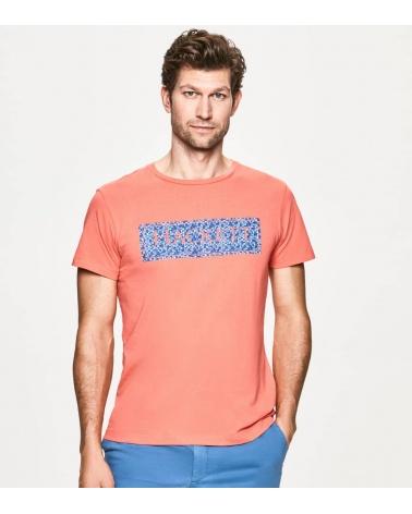 Hackett London Camiseta Coral Rectángulo modelo