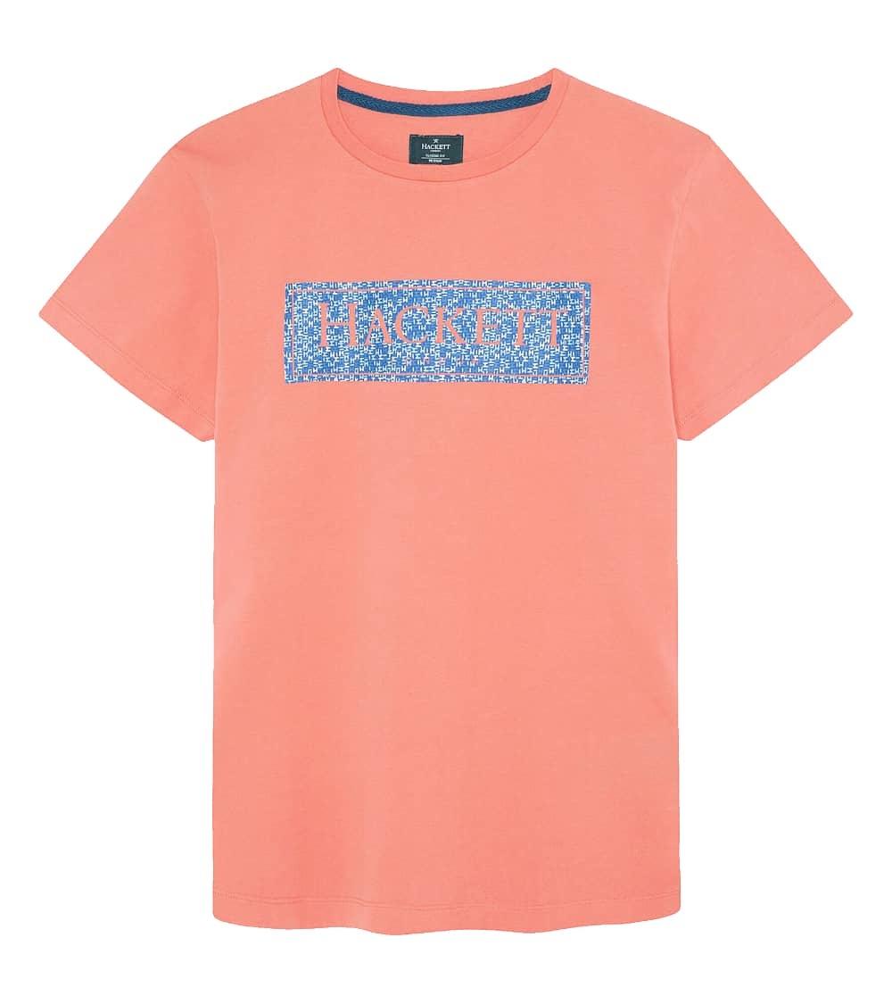 Hackett London Camiseta Coral Rectángulo