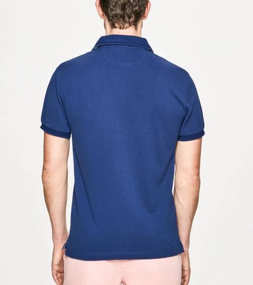 Hackett London Polo Básico Palms Azul espalda