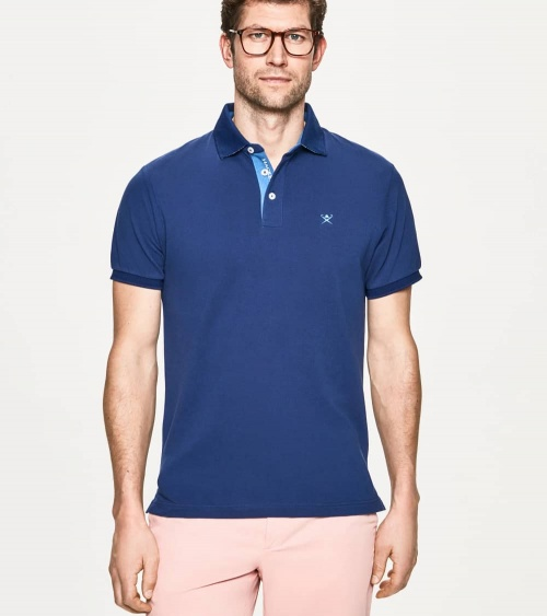 Hackett London Polo Básico Palms Azul modelo