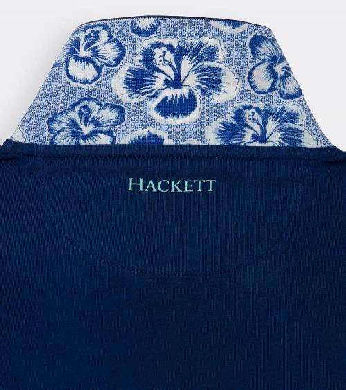 Hackett London Polo Marino Línea Cuello estampado