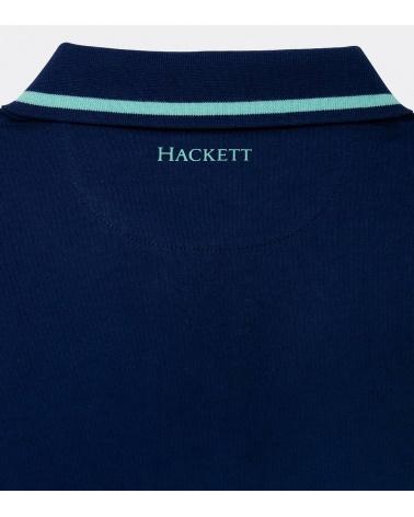 Hackett London Polo Marino Línea Cuello logo