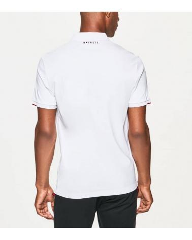 Hackett London Polo Blanco Dynamic Print espalda