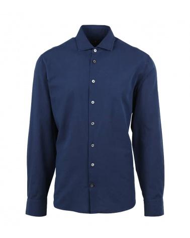 Hackett London Camisa Efecto Lino Índigo
