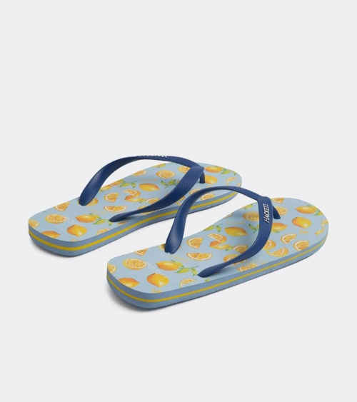 Hackett London Chanclas Limones lateral