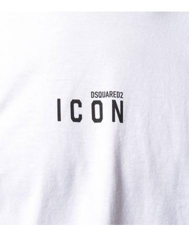 Dsquared2 Camiseta Blanca Minilogo Icon detalle