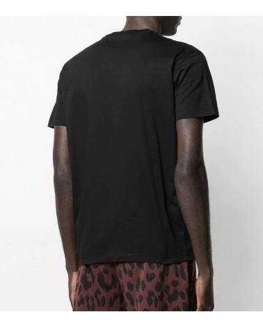 Dsquared2 Camiseta Negra Parches Pecho espalda