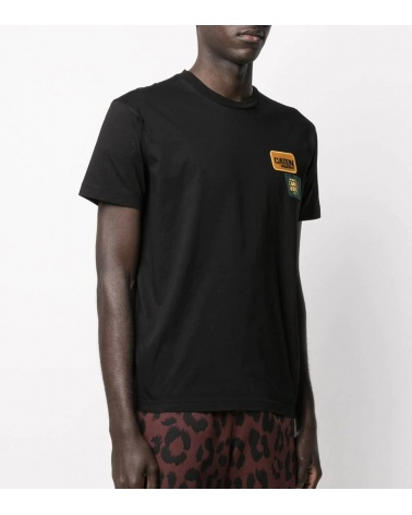 Dsquared2 Camiseta Negra Parches Pecho modelo