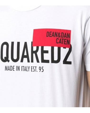 Dsquared2 Camiseta Blanca Dean Dan detalle