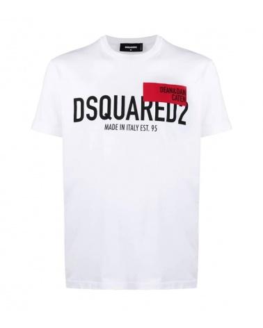 Dsquared2 Camiseta Blanca Dean Dan