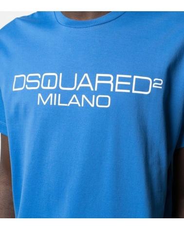 Dsquared2 Camiseta Azulón Milano detalle