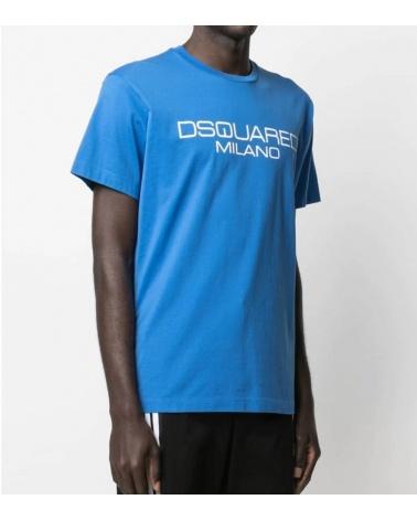 Dsquared2 Camiseta Azulón Milano modelo