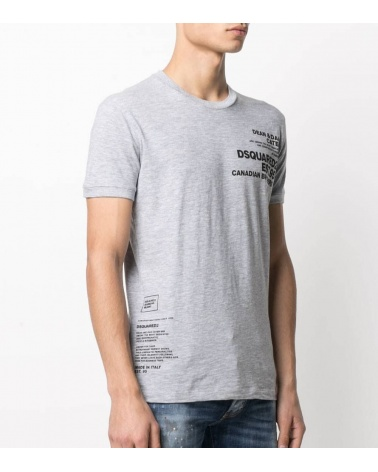 Dsquared2 Camiseta Gris Brothers modelo