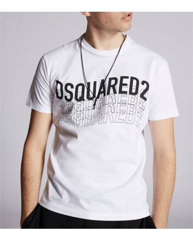 Dsquared2 Camiseta Blanca Logo Letrero modelo