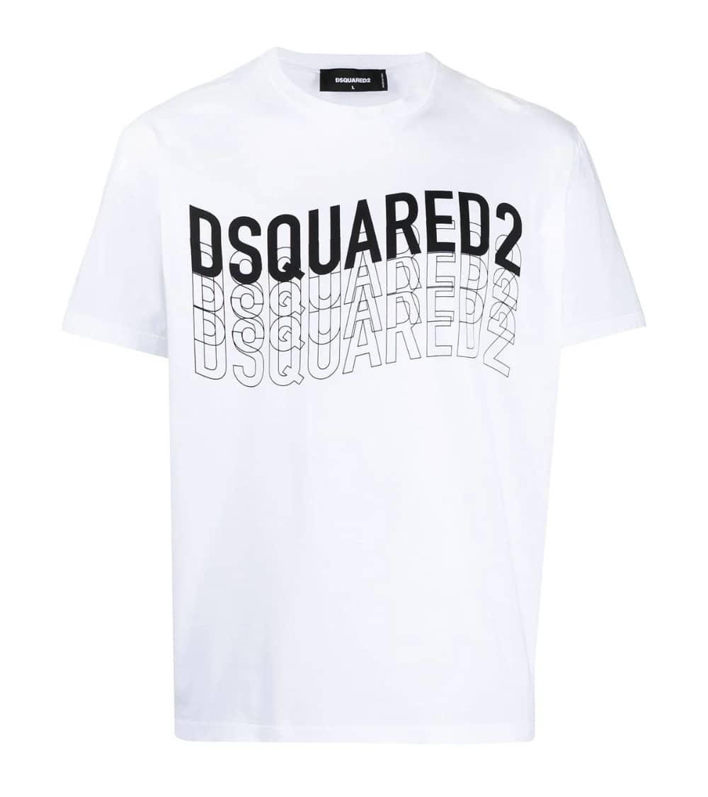 Dsquared2 Camiseta Blanca Logo Letrero